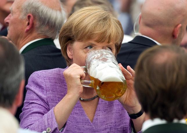 Angela Merkel at the  Gillamoos fair in Bavaria, 2012