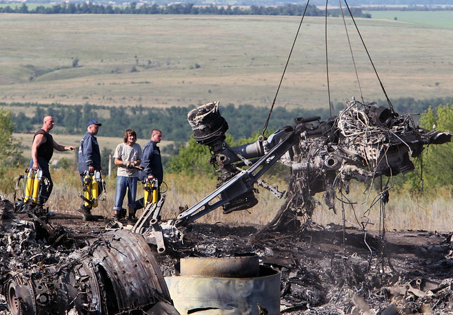 About 170 employees of Ukraine's emergencies services and Interior Ministry work at the site of the crash
