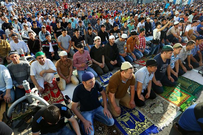 Eid al-Fitr celebration in Moscow