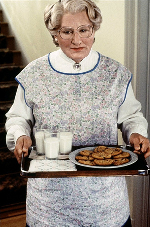 Robin Williams in 'Mrs. Doubtfire' in 1993