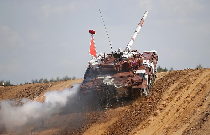 The tank of team Mongolia