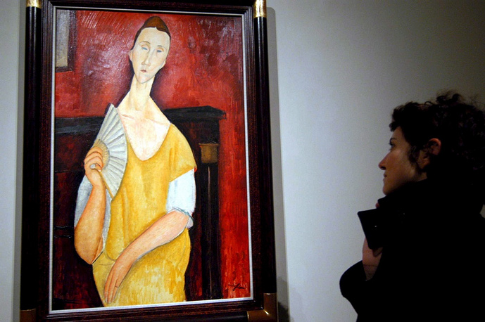 The overall value of the stolen paintings is estimated at $500 mln. Photo: Modigliani's 'La femme a l'aventail'