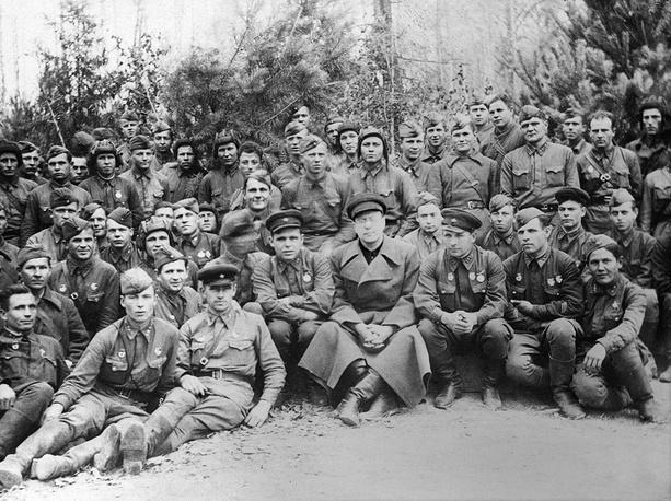 TASS agency war correspondents during WWII, Leningrad, 1945