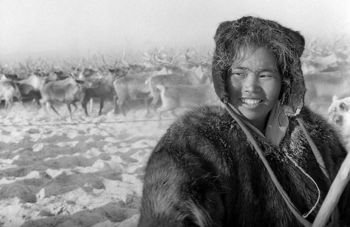 Yakutia SSR. Woman reindeer-breeder, 1965