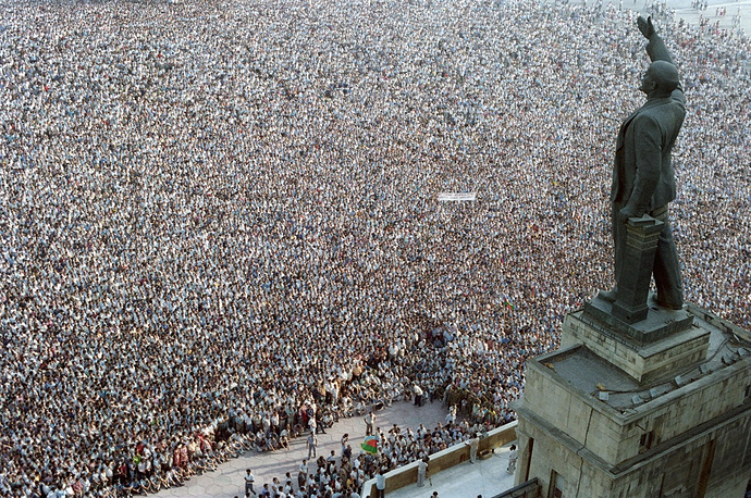 Rally in Baku, 1989