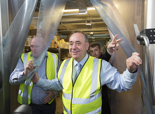 Scottish First Minister Alex Salmond is the leader of  Yes campaigners
