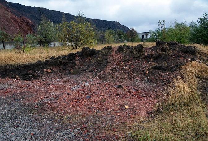 A mass grave found in eastern Ukraine