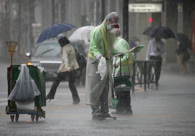 Typhoon Phanfone hits Japan