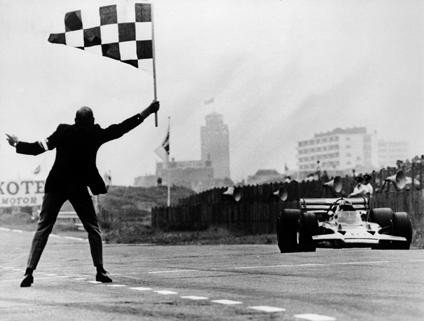 Changes in regulations made Formula One cars are significantly safer. Photo: Austria's Formula One racing car driver Jochen Rindt crosses the finish line, Dutch Grand Prix at Zandvoort, The Netherlands, June 21, 1970