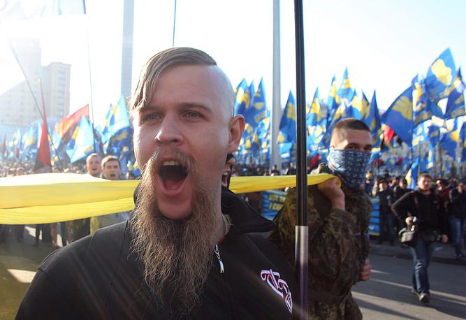 Radical nationalist party Svoboda member