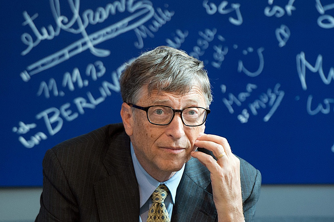 7.  American business magnate Bill Gates