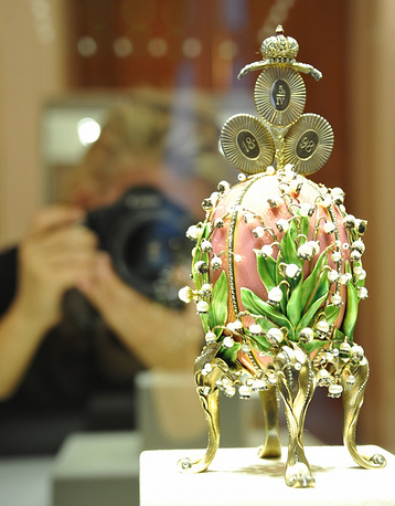 In 2004, a Russian businessman Viktor Vekselberg bought a collection of decorative Faberge Easter eggs. The cost was not announced, but businessman didnt refute media, according to which he had paid about $100 million for the collection. Photo: An Easter egg from a collection of Viktor Vekselberg, which consists of about 4000 works by jeweller Peter Carl Faberge including nine imperial Easter eggs owned by the Russian tsars