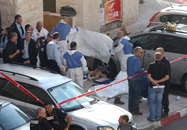 Two Palestinian attackers were shot dead by police officers