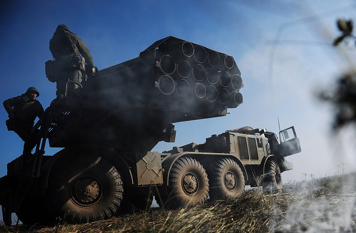 BM-27 Uragan is a self-propelled multiple rocket launcher system capable of launching 220 mm rockets