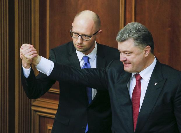 Photo: Ukrainian President Petro Poroshenko and Prime Minister Arseniy Yatsenyuk