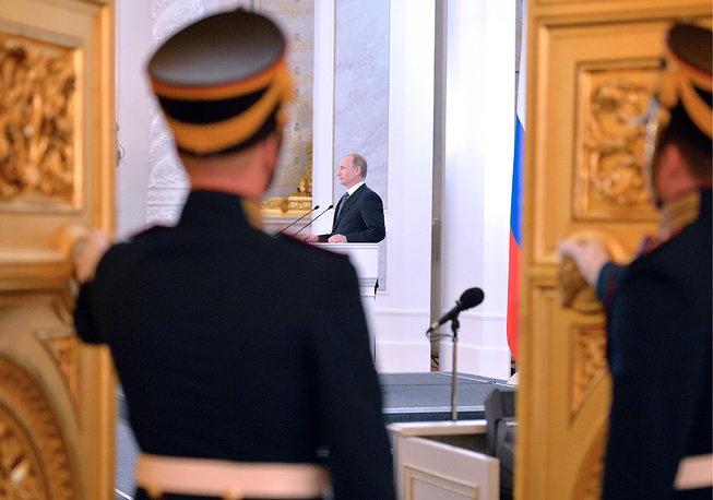 On government spending, Russian President said that all budget corporations should have a common treasury, and all companies with large state share should reduce their costs several per cent each year