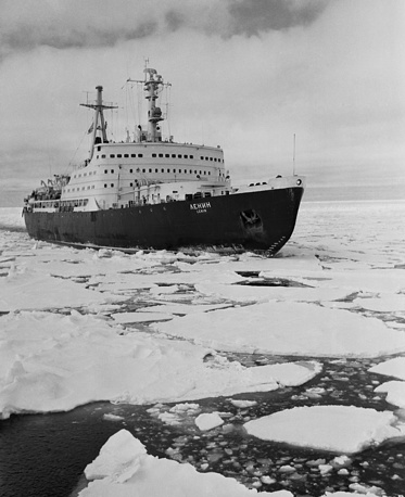World's first nuclear-powered surface ship Lenin was launched on 5 December 1957. Photo: Nuclear ice-breaker Lenin, 1960