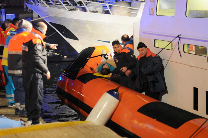 According to latest reports, 256 are staying on board the ferry and are being evacuated gradually