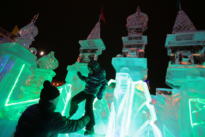 Ice town in Kemerovo