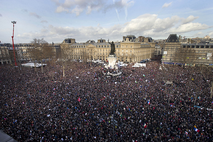 More than 1 million people took part in unity march in Paris on January 11 after deadly attacks in the city killing 17 people
