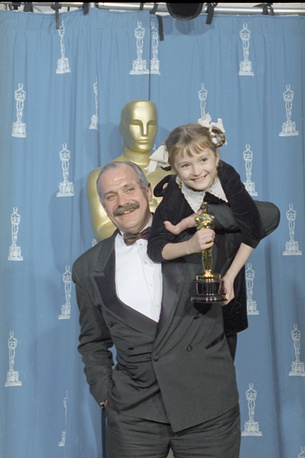 Burnt by the Sun by Russian director and actor Nikita Mikhalkov received the Academy Award in 1994. Photo: Nikita Mikholkov and his daughter Nadia with the Oscar at the 67th Annual Academy Awards in Los Angeles, 1995