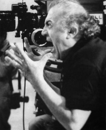Italian director Federico Fellini, 1990