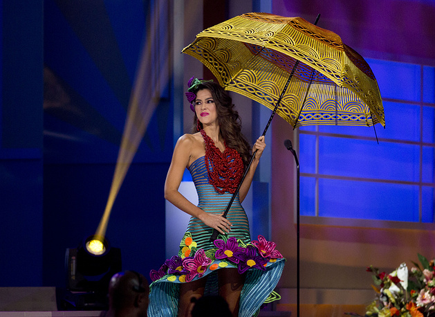 Miss Colombia, Paulina Vega during the national costume show in Miami, USA