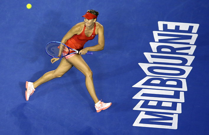 Maria Sharapova began her way at Australian Open 2015 with a convincing 6-4, 6-1 victory over Petra Martic of Croatia