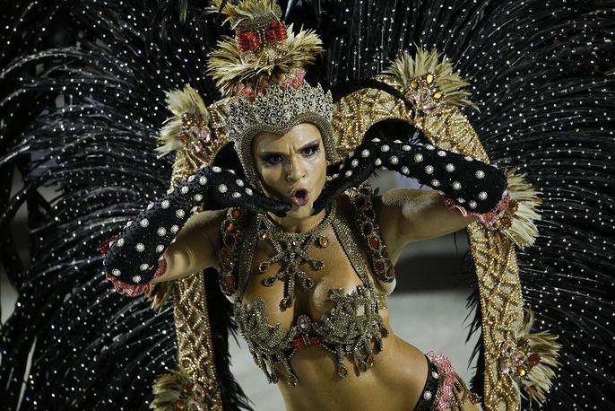 A performer from the Salgueiro samba school in Rio de Janeiro