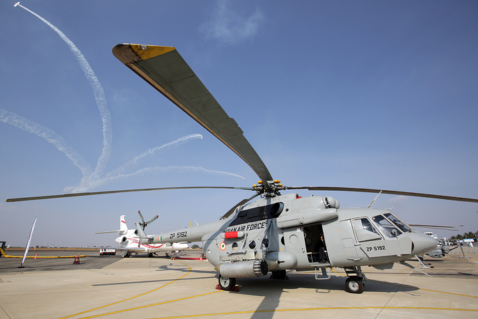 MI-8 helicopter of the Indian Air Forces