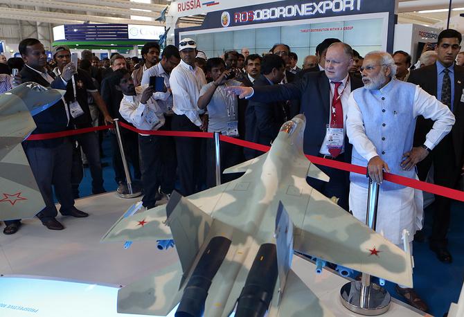 Rosoboronexport's stand at Aero India 2015