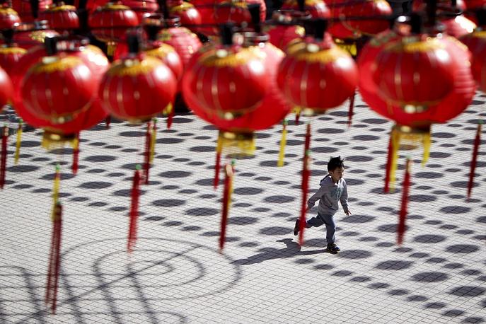 Chinese lantern decorations in Kuala Lumpur, Malaysia