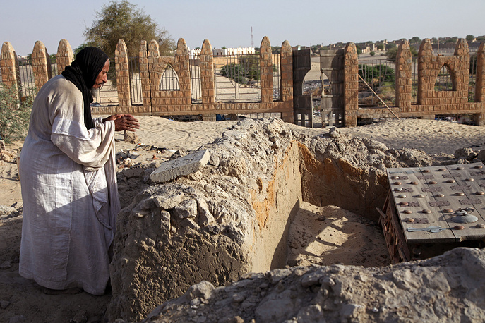 Tombs at the Timbuktu's mausoleums damaged because of attacks by the Islamist radicals in northern Mali