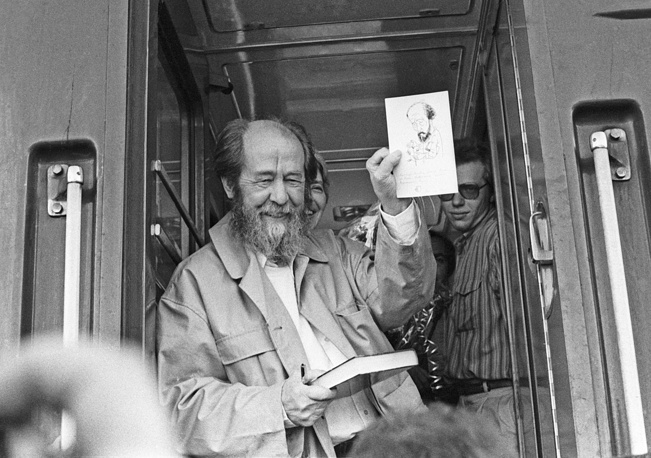 Alexander Solzhenitsyn, author of The Gulag Archipelago, The First Circle, winner of the 1970 Nobel Prize in Literature