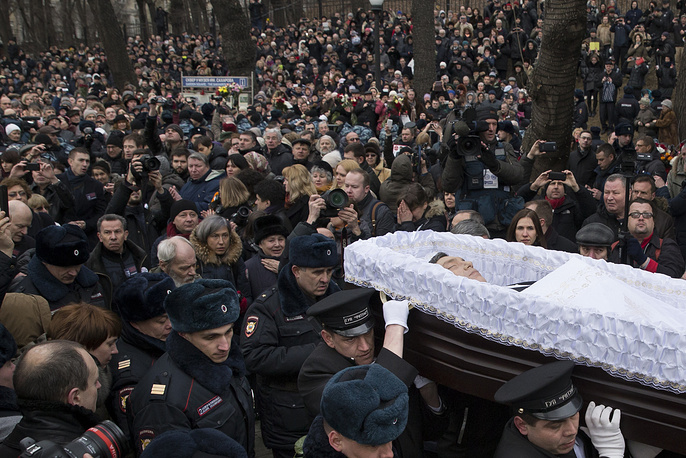 Mourning ceremony for Russian opposition leader Boris Nemtsov