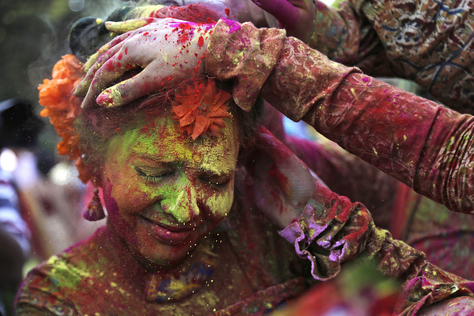 Holi celebrations in Kolkata, India