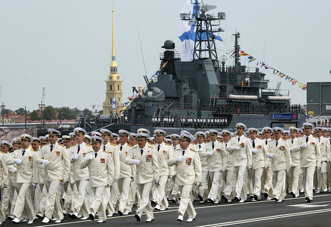 Russian Navy Day celebrations in St. Petersburg