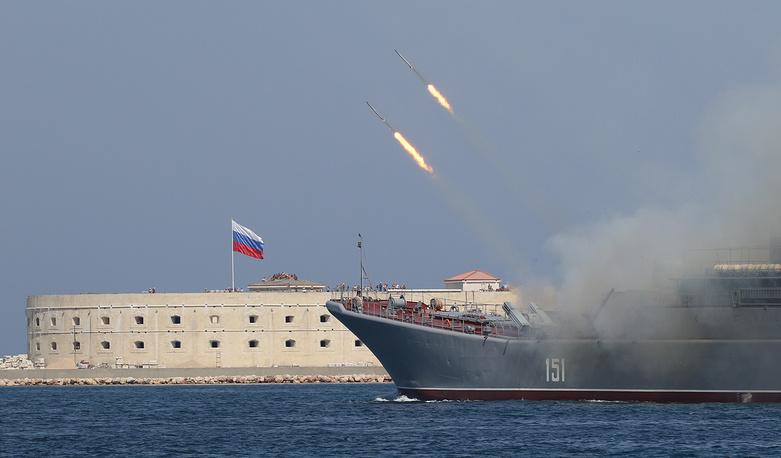 Black Sea fleet's large landing ship Azov