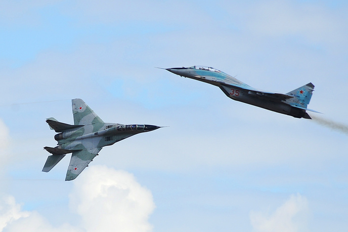 MiG-29 twin-engine jet fighter aircraft entered service with the Soviet Air Force in 1983. It was a popular export aircraft; more than 30 nations either operate or have operated the aircraft to date