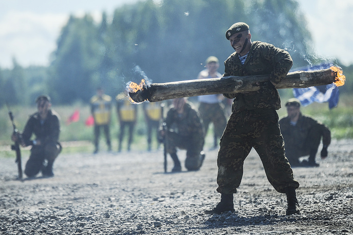 Novosibirsk Military Command Academy students seen during the 3rd stage of the Masters of Reconnaissance competition