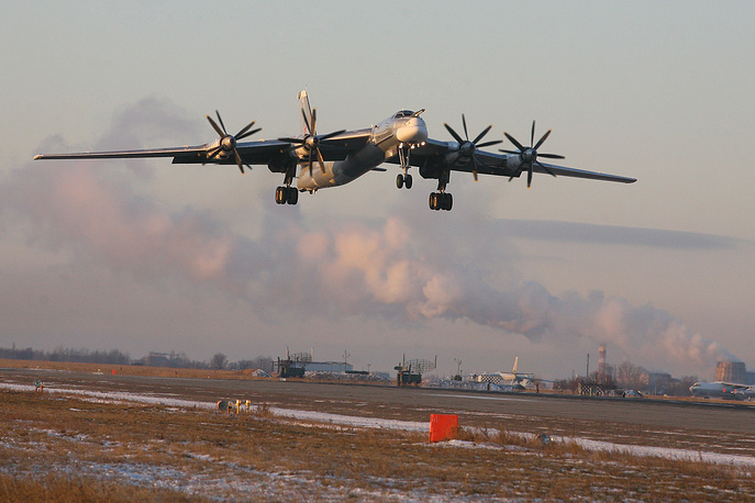 Tupolev Tu-95 is a large, turboprop-powered strategic bomber and missile platform. It is the only propeller-powered strategic bomber still in operational use today