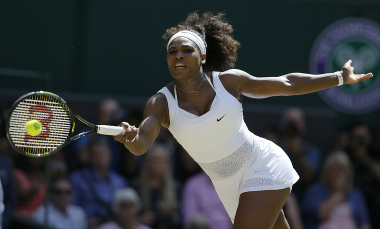 Serena Williams of the United States was ranked second ($24.6 million)