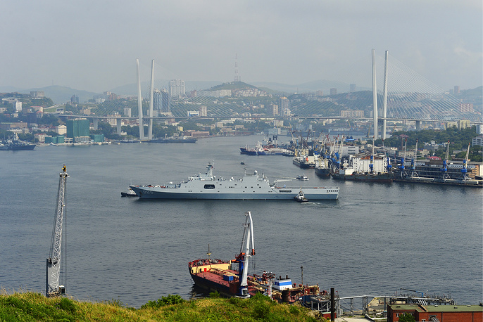 Twenty-two combat ships of Russia and China will take part in the drills