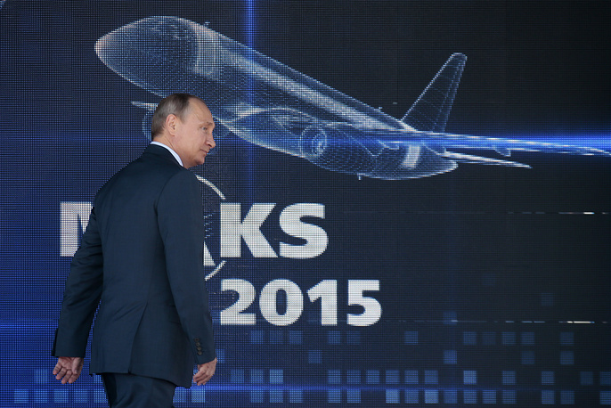 "Russian President Vladimir Putin spoke at the opening of the MAKS-2015. The Russian leader said a range of ""serious deals"" to be signed during this year's MAKS event"