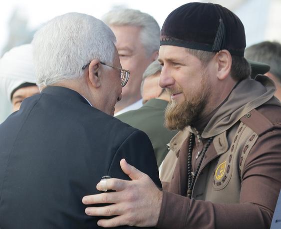 Palestinian leader Mahmoud Abbas and Chechen leader Ramzan Kadyrov