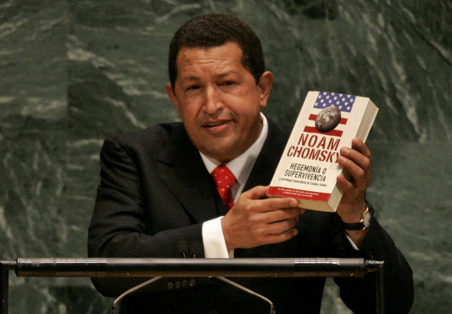 "On September 20, 2006 former Venezuelan President Hugo Chavez delivered a speech to the UN General Assembly damning US President George W. Bush. In particular, he said: ""The devil came here yesterday, and it smells of sulfur still today, this table that I am now standing in front of"""