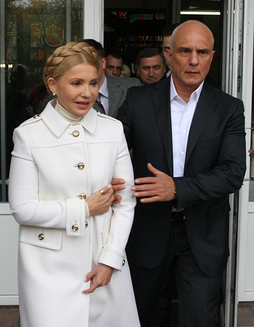 Batkivshchyna Party leader Yulia Tymoshenko with her husband Alexander
