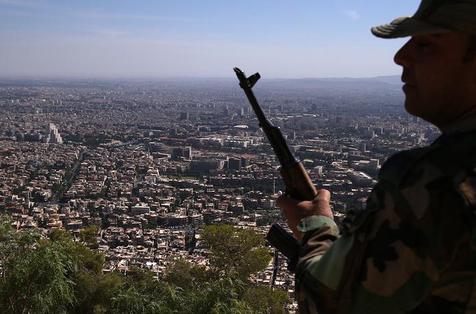 View of Damascus from Mount Qasioun