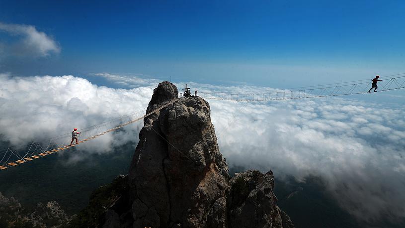 Ai-Petri peak in the Crimean Mountains, August 15, 2015