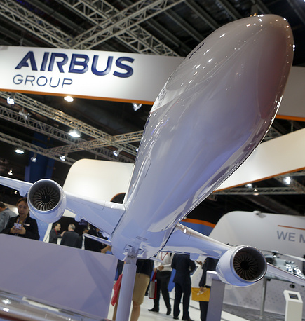 The model of an Airbus A350 XWB